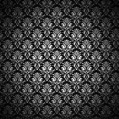 Black Lace Pattern on White Background — Stock Vector