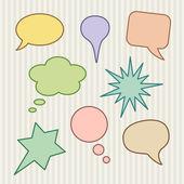 Colorful Cartoon Speech Bubbles — Stock Vector