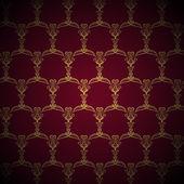 Royal Golden Pattern on Purple Background — Stock Vector