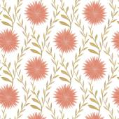 Seamless flower pattern in country style — Stock Vector
