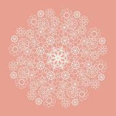 White lace serviette on pink background — Stockvektor