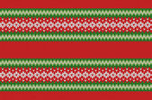 Winter Geometric Ornament Seamless Pattern Background in Red, Green and White from Knitted Fabric with Copy Space for Merry Christmas or Happy New Year — Vector de stock