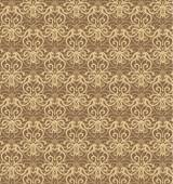 Intricate Beige and Brown Luxury Seamless Pattern — Stock Vector