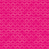 Hearts Contour Pattern in Shades of Pink, vector — Stock Vector