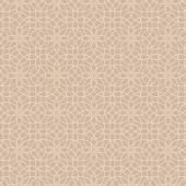 Abstrakte geschmiedete Beige nahtlose Blümchenmuster aus Linie Blumen auf hellem braun Hintergrund für Wallpaper, Möbel und Innenausbau — Stockvektor