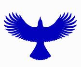 Blue Jay Silhouette, vector — Stock Vector