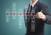 Businessman write insurance concept — Стоковое фото