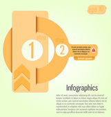 Modern, clear template key shape. Can be used for infographics,  — Wektor stockowy