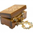 Wooden box with necklace — Stock Photo #70603807