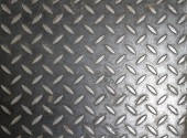 Metal with repetitive pattern — Stock Photo