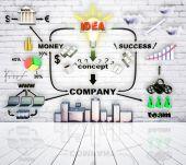 Interacción de dinero y el éxito — Foto de Stock