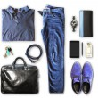 Set of men's clothing and accessories — Stock Photo #74690703