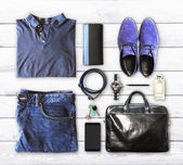 Male clothing and accessories — Stock Photo