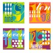 Colorful number designs set 3 — Stock Vector #55552495