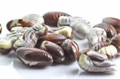 Chocolate seashells isolated on white background — Stock Photo