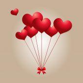Sevgililer günü Kalp balonlar — Stok Vektör