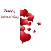 Heart from paper Valentines day card vector — Stock Vector