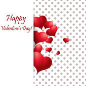 Heart from paper Valentines day card vector — Vecteur