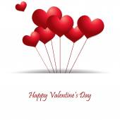Valentines Day Heart Balloons — Stock Vector