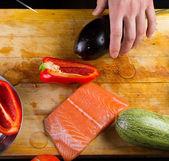 The chef prepares — Stock Photo