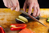 The chef prepares — Stock Photo