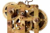 Old clock mechanism with gears  — Stock Photo