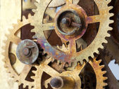 Old clock mechanism with gears  — Photo
