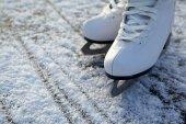 Figura patines sobre hielo — Foto de Stock