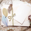 Old accessories and post cards — Stock Photo #73506553