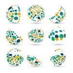 Set of abstract vector spheres — Stock Vector #60101963