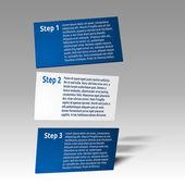 Simple 3d infographics cards — Vecteur