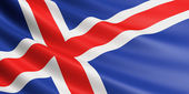 Iceland flag. — Stock Photo