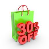 Discount on purchase of thirty percent. — Stok fotoğraf