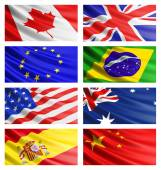 Popular flags collection. — Stock Photo
