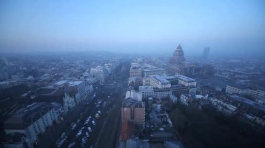 Brussels City at sunrise or sunset — Stock Video