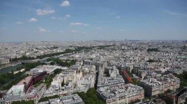 Aerial View of Paris city — Stock Video