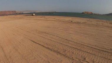 Car Desert in Paracas National Park — Stock Video