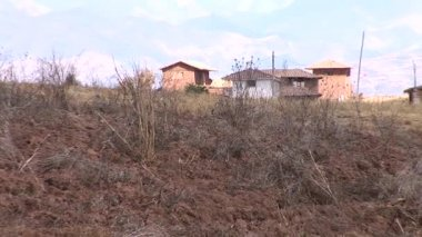 Plot of land with houses — Stock Video