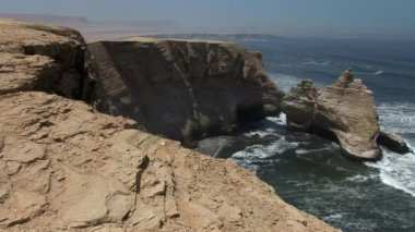 Paracas National Park Cathedral — Stock Video