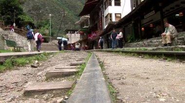 Railroad Track through Aguas Calientes — Stock Video