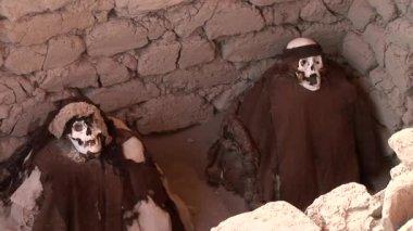 Mummy at Chauchilla Cemetery — Stock Video