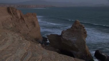 Paracas National Park Cathedral after earthquake — Stock Video