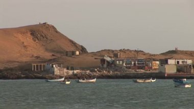 Small Bay  in the Paracas National Park — Stock Video