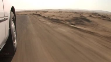 Car Desert in Paracas National Park — Stock Video