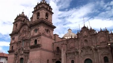 Cathedral in the Plaza de Armas — Stock Video