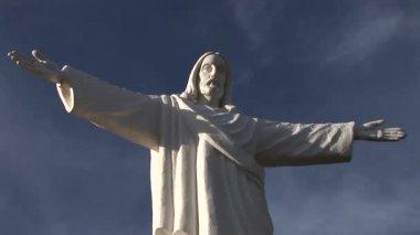 Statue of Jesus Christ in Peru — Stock Video