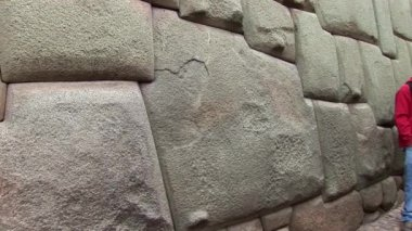 Famous stone in Inca-Wall — Stock Video