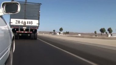 Truck driving on the road — Stock Video