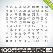 Universal Icons For Web and Mobile — Stock Vector