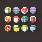 Flat Icons for mobile and web applications — Stock Vector